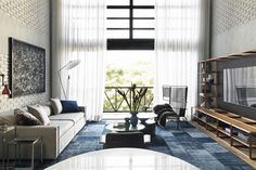 Designed by Diego Revollo Arquitetura, this 100 Loft is located in the noble neighborhood of Morumbi, in São Paulo. Decor, Furniture, House, Interior, Interior Architecture, Industrial Loft, Home Decor, Modern Interior Design, Living Room Designs