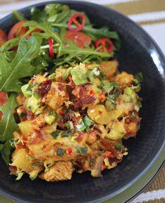 Cheddar, Guacamole, Potato Salad, Cauliflower, Food And Drink, Potatoes, Meat, Chicken, Dinner