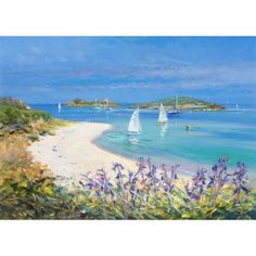 Bright Sands, Tresco. Ted Dyer Limited Edition Print