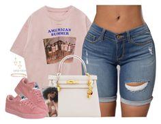 """Summer 16  07 19 16"" by kahla-robyn ❤ liked on Polyvore featuring Hermès, Dutch Basics, David Yurman and Anita Ko"