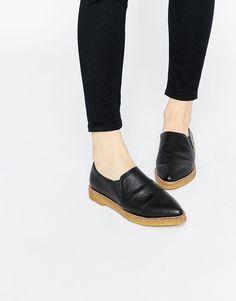 Bild 1 von ASOS – MANHATTAN – Spitze, flache Schuhe