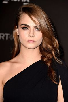 Cara Delevingne Dyes Her Hair Brown: See Pictures of the New Brunette Holiday Hairstyles, Celebrity Hairstyles, Hair Styles 2014, Long Hair Styles, Pretty Hairstyles, Braided Hairstyles, Romantic Hairstyles, Cara Delevingne Hair, Blonder Bob