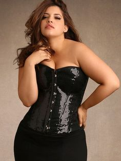 Sequin Corset From The Plus Size Fashion Communiy At www.VinageAndCurvy.clm