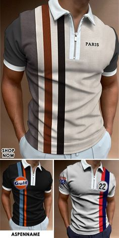 Men's short-sleeved polo shirts are on hot sale, with various styles, comfortable fabrics, and keeping up with fashion trends. In this hot summer, there is always one that suits you! #casual #street #polo #shirt #outdoor Formal Wear, Casual Wear, Suits You, Business Casual, Sportswear, Shop Now, Polo Shirts, Men's Clothing, Upcycle