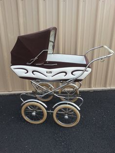 SALE Vintage Perego Pram Baby Carriage Stroller Made by damamima, $375.00