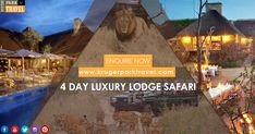 4 day luxury lodge safari package with very lowest price from Kruger Park Travel. Enquiry Or More Information, then visit at http://bit.ly/2E8R7MC