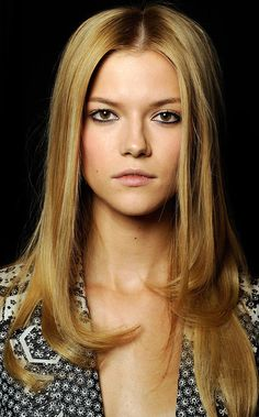 long naturally styled hair