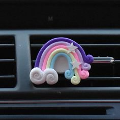 Colorful Candy Rainbow Lollipop Bling Car Air Vent Perfume and Decoration