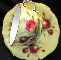 4:00 Tea...Hammersley Spode...Ultimate Moss Rose...Teacup and saucer