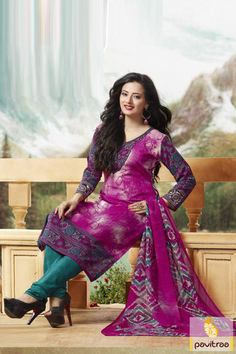 650Rs, Get fashionable touch to your look by wearing this captivating magenta turquoise casual salwar kameez. This casual suit give smart and graceful look.  http://www.pavitraa.in/store/casual-dress/ #salwarsuits, #salwarkameez, #churidarsalwar, #printedsalwarsuits, #casualsalwarsuits, #formalsalwarsuits, #dailywearsalwar, #dresses, #festival, #occasionsuits
