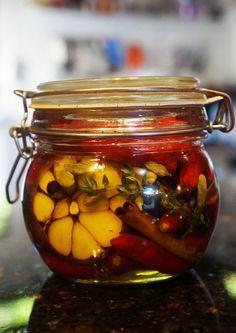 Conserva de pimenta com especiarias