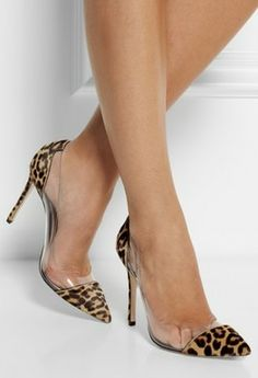 Just gorgeous! Gianvito Rossi's leopard-print and Perspex pumps. This soft calf hair style features clear PVC panels with tiny air vents for breathability. From - http://www.net-a-porter.com/intl/product/406091?cm_mmc=LinkshareUK-_-Hy3bqNL2jtQ-_-ProductFeed-_-Gianvito_Rossi&siteID=Hy3bqNL2jtQ-yFhIKEnsFe.JclWBHWDV7w