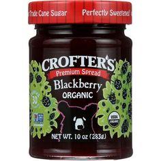 Crofters Fruit Spread - Organic - Premium - Blackberry - 10 oz - case of 6