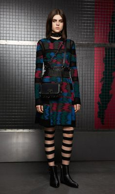 The eclectic mix of colors and pleasing silhouette make this dress perfect for cool evenings. Leather accessories reveal your style consciousness and sophistication. Winter Dresses, Dress Winter, Online Clothing Boutiques, Stretch Dress, Leather Accessories, Missoni, Boutique Clothing, Different Styles, Color Mixing