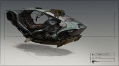 Wasteland Skiff Picture  (2d, automotive, antigravity, sci-fi, hover, bike, transport, skiff)