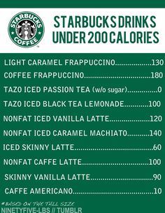 Starbucks drinks under 200 calories. good to know with how much i go to starbucks, good to keep in mind Skinny Vanilla Latte, Skinny Latte, Fitness Motivation, Daily Motivation, Healthy Recipes, Get Healthy, Healthy Foods, Drink Recipes, Eating Healthy