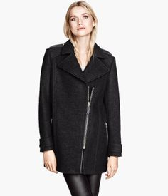 H&M US Biker-style Coat $99 #Fall Collection