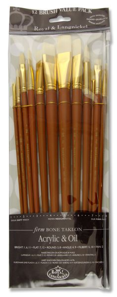 Long Handle Firm Bone Taklon Brush Set