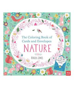 Look at this #zulilyfind! Nature Cards & Envelopes Coloring Book #zulilyfinds