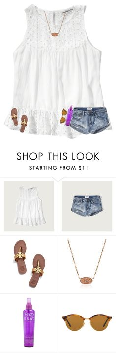 """""""going to lunch"""" by texasgirlfashion ❤ liked on Polyvore featuring Abercrombie & Fitch, Tory Burch, Kendra Scott, Bed Head by TIGI and Ray-Ban"""