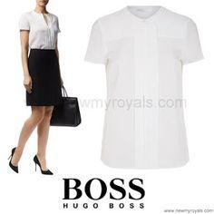 HUGO BOSS Pleated Silk Shirt