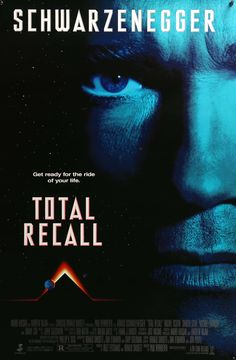 """Film: Total Recall (1990) Year poster printed: 1990 Country: USA Exact Size: 26.75"""" x 39.75"""" This is a vintage advance poster from 1990 for Total Recall starring Arnold Schwarzenegger, Rachel Ticotin"""