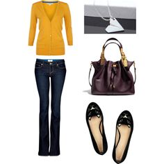 I love the sweater! mustard yellow is so my obsession this fall!! (not a fan of the shoes)