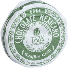 Taza Chocolate Organic Chocolate Mexicano Discs - 50 Percent Dark Chocolate - Guajillo Chili - 2.7 oz - Case of 12 - Inspired by our passion for Mexican chocolate traditions, we hand-carve granite millstones to make these rustic, organic dark Mexican style chocolate discs bursting with bright tastes and bold textures. Chilis are often added to chocolate in Mexico for a spicy kick. We grind single-origin Dominican cacao using vintage Oaxacan stone mills to preserve its complex flavor and…