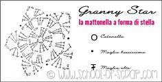 Scuola di Uncinetto: Granny Star la mattonella a forma di stella