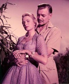 Grace Kelly and Clark Gable in Mogambo (1953)