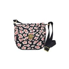 Amira Mini Saddle Crossbody - New for Spring 2015, the Mini Saddle Crossbody secured body has enough room to house cellphones of all sizes, keys, lipstick, cash/cards, sunglasses, a wallet, a few small personal items. Amira's Caviar Black, Bright White and pops of Blush Pink add a feminine twist to the timeless leopard print. The outside and inside features 1 zip pocket each. The adjustable strap has a maximum size of 55x1