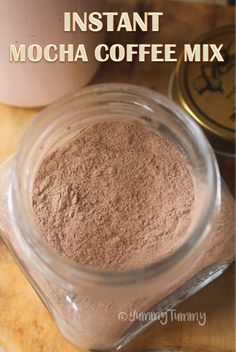 Instant Mocha Coffee Mix Recipe - Edible Gift Ideas - - This is a great mix to have on hand if you are a coffee lover. This is great to have when you are travelling. A wonderful edible gift idea for all those coffee lovers. Coffee Mix, Coffee Drinks, Smoothies Coffee, Iced Coffee, Coffee Enema, Coffee Maker, Coffee Tables, Drinking Coffee, Hot Coffee