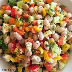 Greek Recipes, My Recipes, Salad Recipes, Salad Bar, Food Presentation, Cooking Time, Food Network Recipes, Finger Foods, Pasta Salad