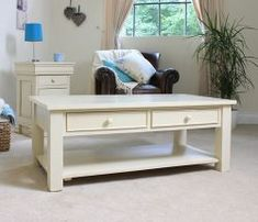 Our beautiful Cadence Mahogany furniture hand crafted from highest standard solid pine furniture. With a charming Antique Cream finish, this range provides outstanding durability. For more info visit http://solidwoodfurniture.co/product-details-pine-furnitures-2894-cadence-coffee-table-with-drawers-.html