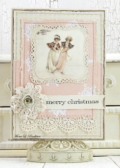 ◆ Pion Design's Blog...   days of Winter holiday card |  Aug 15- pink card 1000