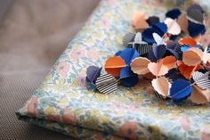 """CLOUDS """"sunset"""" handmade paper garland - styling and photo © Mi-avril"""