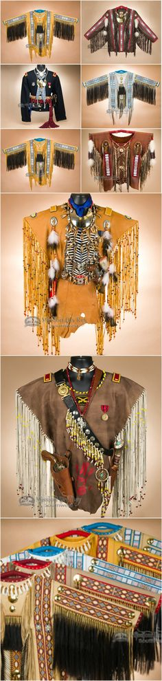 Authentic Native American war shirts, perfect for collectors of southwest and Native American decor.  Check out our entire collection at http://www.missiondelrey.com/native-american-war-shirts-vests/
