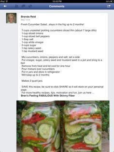 Cucumbers Refrigerator Salad.