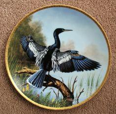 The Elegant Birds: The Anhinga - WS George Plate - Artist: Jim Faulkner