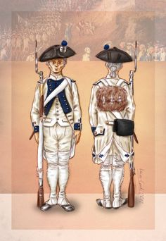 White cockade by Kaiser-Conti. A fusilier in the Regiment du Dauphin in parade dress, according to the Royal Reglement of 1786,. Dark gaiters would usually be worn during campaign.  In 1789 it was among those troops that were planned to bring order in Paris and disperse the National Assembly in the earliest stages of the French Revolution. The Regiment suffered considerable desertion back then.