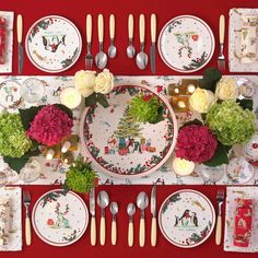 """Cath Kidston on Instagram: """"Hands up who's hosting? Dress to impress (the table, we mean), with our Christmas collection of homewares. #CathKidston"""" Cath Kidston, Dress To Impress, Table Settings, Awesome, Christmas, Hands, Interiors, Collection, Instagram"""