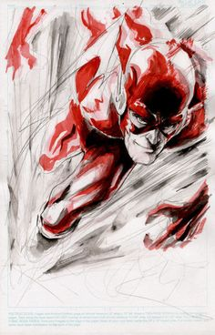 The Flash sketch art...