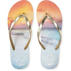 b26e5ae8477de1 Aero Surf Club Sunset Flip-Flop (84 MXN) ❤ liked on Polyvore featuring