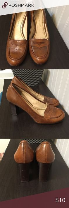 Really Cute Bangolino Loafers With Chunky Hills