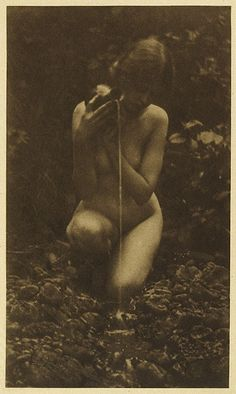 The Source. Brigman, Annie A., b.1869-1950. Camera Work XXV, 1909  . Photogravure.