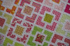 Garden Fence Quilt by QOB, via Flickr
