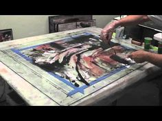 """▶ Step by Step of """"Vedero""""a painting in cement - YouTube"""