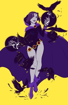 "jchanarts:  "" Raven from Teen Titans  11x17 Print and button available at Comikaze 2016 Table L24  Follow me at:  Blog, Instagram, Twitter  """