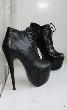 High Heel Shoes: The Essential Woman's Fashion Accessory Leather High Heels, Platform High Heels, Black High Heels, High Heel Boots, Heeled Boots, Bootie Boots, Shoe Boots, Black Leather, Platform Boots