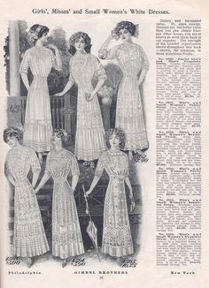 >More Lingerie Dresses, 1911 | Wearing History™